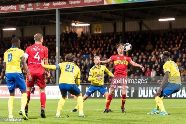 Nigel Robertha of SC Cambuur Jeroen Veldmate of Go Ahead Eagles Robbert Schilder of SC Cambuur Andrejs Ciganiks of SC Cambuur Orhan Dzepar of Go...