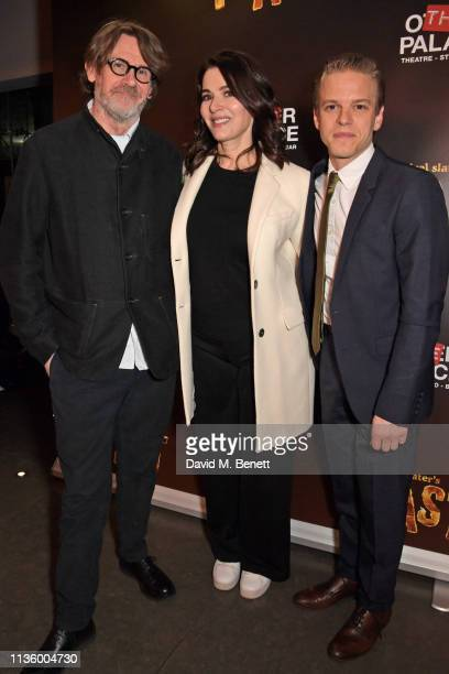 Nigel Slater Nigella Lawson and Giles Cooper attend the press night after party for Nigel Slater's Toast at The Other Palace on April 9 2019 in...