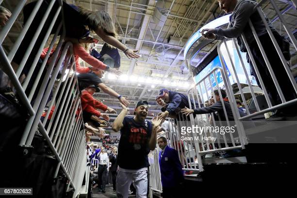 Nigel WilliamsGoss of the Gonzaga Bulldogs celebrates their 83 to 59 win over the Xavier Musketeers during the 2017 NCAA Men's Basketball Tournament...