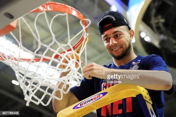 Nigel WilliamsGoss of the Gonzaga Bulldogs cuts down the net after their 83 to 59 win over the Xavier Musketeers during the 2017 NCAA Men's...