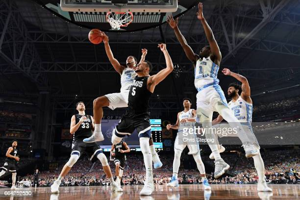 Nigel WilliamsGoss of the Gonzaga Bulldogs draws a foul during the 2017 NCAA Men's Final Four National Championship game against the North Carolina...