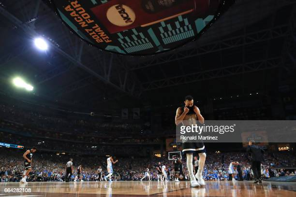 Nigel WilliamsGoss of the Gonzaga Bulldogs reacts late in the game against the North Carolina Tar Heels during the 2017 NCAA Men's Final Four...