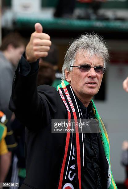 Nigel Wray coowner of Saracens looks on during the Guinness Premiership semi final match between Northampton Saints and Saracens at Franklin's...