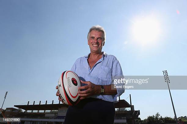 Nigel Wray the owner of Saracens poses after the press conference held at Allianz Park on July 24 2012 in Barnet England