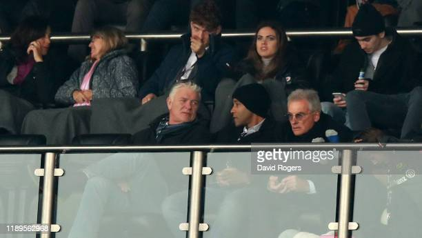 Nigel Wray the Saracens owner looks on during the Heineken Champions Cup Round 2 match between Saracens and Ospreys at Allianz Park on November 23...
