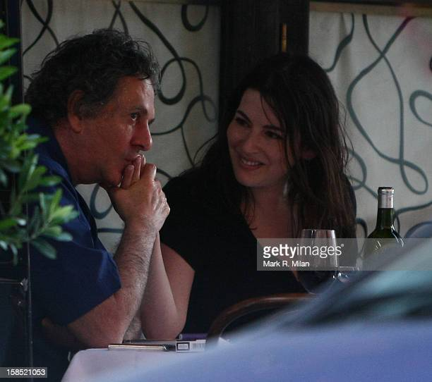 Nigella Lawson and Charles Saatchi are seen on August 28, 2009 in London, England.