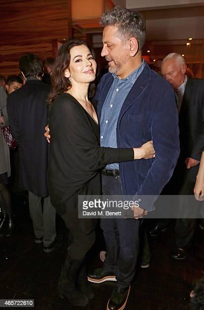 Nigella Lawson and Giorgio Locatelli attends a private party to celebrate the reopening of famed London restaurant Locanda Locatelli on March 9 2015...