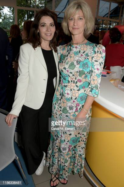 Nigella Lawson and Nicola Formby attend The Sunday Times AA Gill Award for emerging food critics at The River Cafe on June 16 2019 in London England