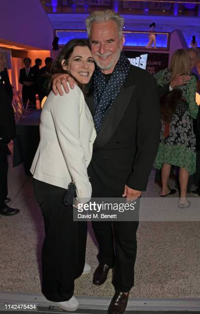 Nigella Lawson and Trevor Eve attend a private view of Stanley Kubrick The Exhibition at The Design Museum on May 9 2019 in London England