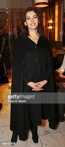 Nigella Lawson attends a private party to celebrate the reopening of famed London restaurant Locanda Locatelli on March 9 2015 in London England
