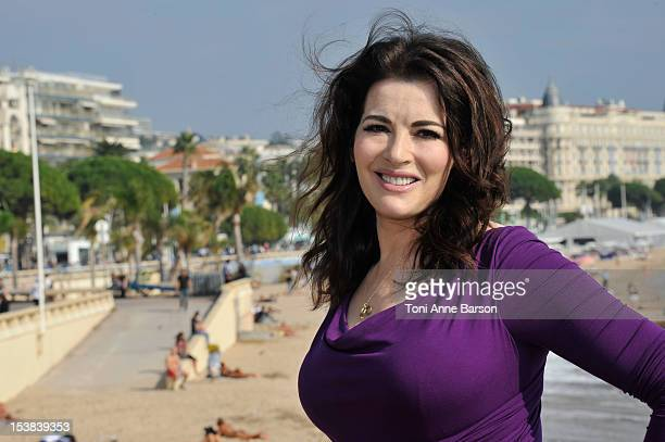 Nigella Lawson attends 'Nigellissima' Photocall as part of MIPCOM 2012 at Majestic Hotel on October 9 2012 in Cannes France