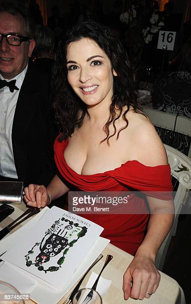 Nigella Lawson attends the Chaos Point Gala Dinner where Vivienne Westwood will present her Gold Label Collection in collaboration with the London...