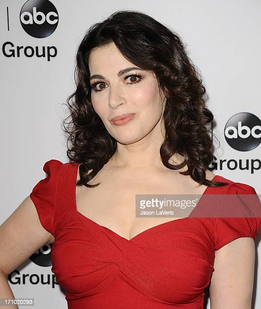 Nigella Lawson attends the Disney ABC Television Group 2013 TCA Winter Press Tour at The Langham Huntington Hotel and Spa on January 10 2013 in...