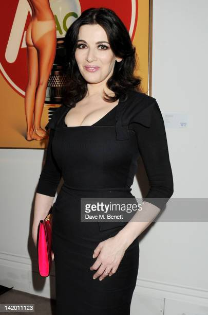 Nigella Lawson attends the launch of British Vogue editor Alexandra Shulman's debut novel 'Can We Still Be Friends' at Sotheby's on March 28 2012 in...