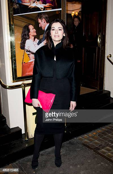 Nigella Lawson attends the press night of 'Fatal Attraction' at Theatre Royal on March 25 2014 in London England