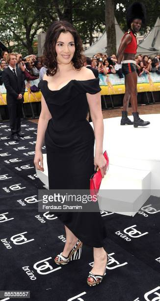 Nigella Lawson attends the UK premiere of 'Bruno' at Empire Leicester Square on June 17 2009 in London England