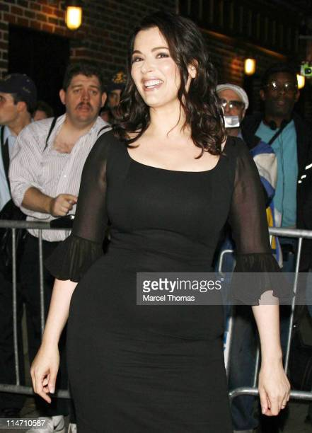 """Nigella Lawson during Amanda Peet and Nigella Lawson Depart from """"The Late Show with David Letterman"""" - September 27, 2006 at The Ed Sullivan Theater..."""