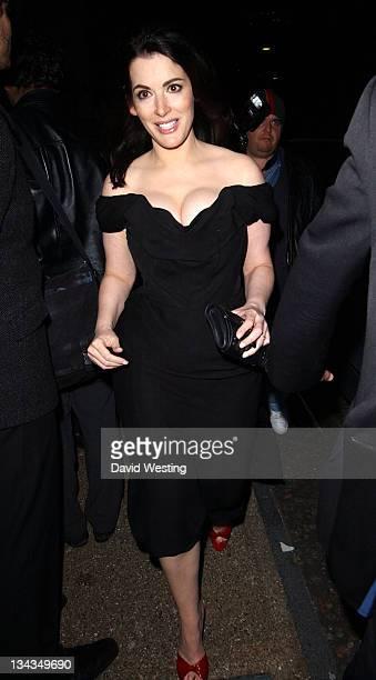 Nigella Lawson during British Comedy Awards 2006 Departures at London Television Studios in London Great Britain