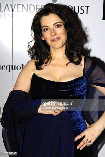Nigella Lawson during Lavender Trust Party Inside Arrivals at Claridges Hotel in London United Kingdom