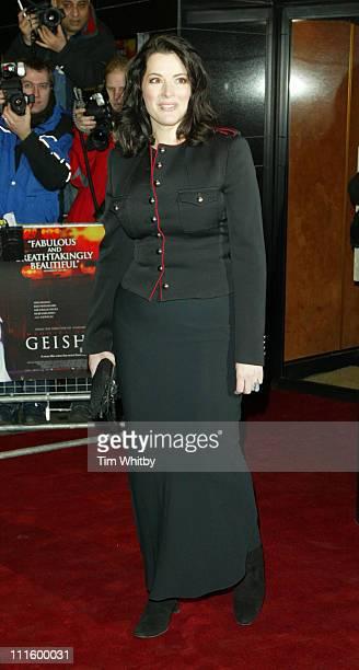 Nigella Lawson during 'Memoirs of a Geisha' London Premiere at Curzon Mayfair in London Great Britain