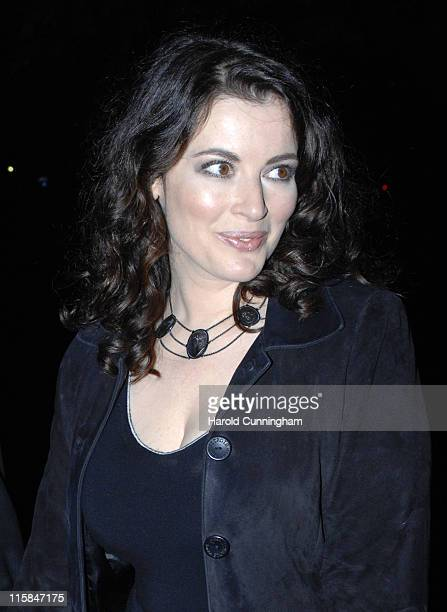 Nigella Lawson during Vogue and Motorola Celebrate the Magazine's 90th Anniversary Arrivals at The Serpentine Gallery in London Great Britain