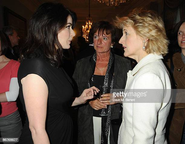 Nigella Lawson, Rosa Monkton and Fiona Shackleton attends the book launch party for Nicholas Coleridge's book 'Deadly Sins', at Dartmouth House on...