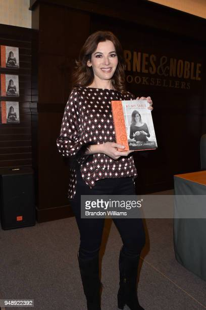 Nigella Lawson speaks and signs copies of her new book 'At My Table' at Barnes Noble at The Grove on April 19 2018 in Los Angeles California
