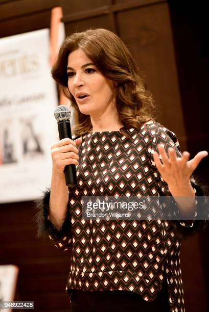 Nigella Lawson speaks and signs copies of her new book At My Table at Barnes Noble at The Grove on April 19 2018 in Los Angeles California
