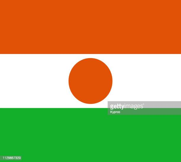 niger flag - ニジェール ストックフォトと画像