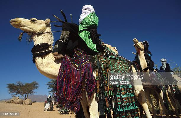 Niger the land of the Blue men in December 1998 Tuareg with ceremonial dress