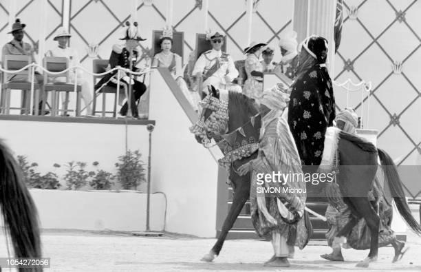 Nigeria 1956 Voyage de trois semaines de la reine ELIZABETH II d'Angleterre au Nigeria colonie britannique du 28 janvier au 16 février 1956 Un...