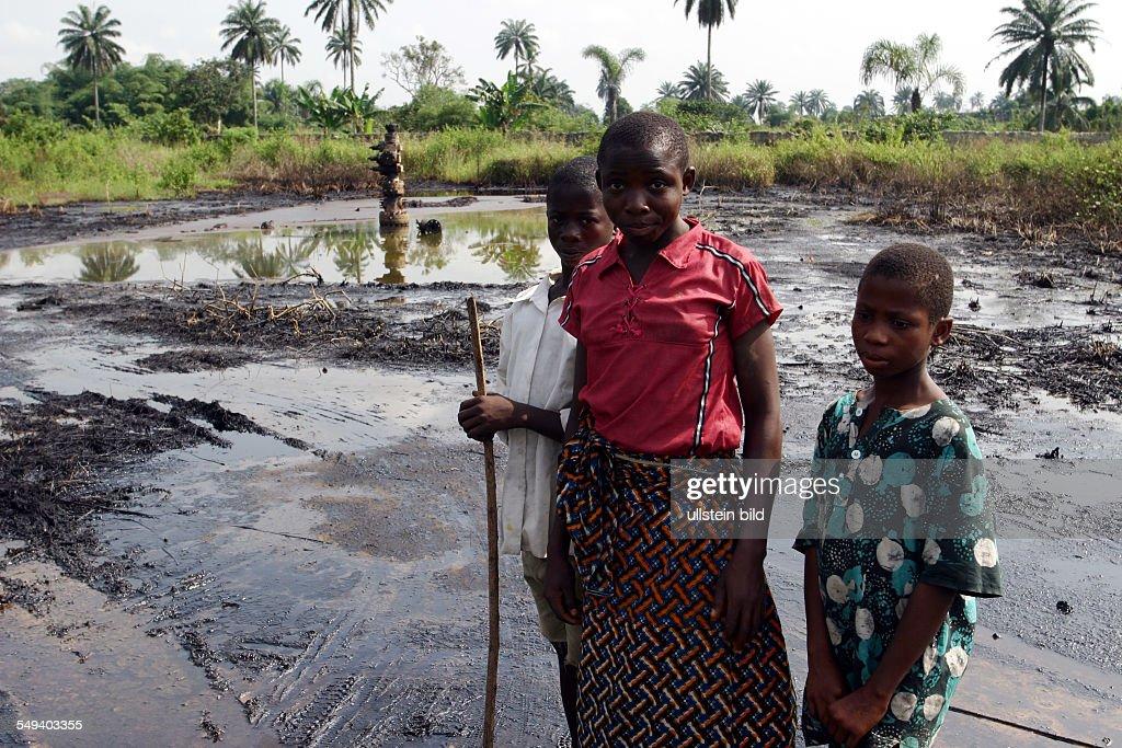 Nigeria. Bomu, Kpor, Ogoni Area; ecological destruction because petroleum;