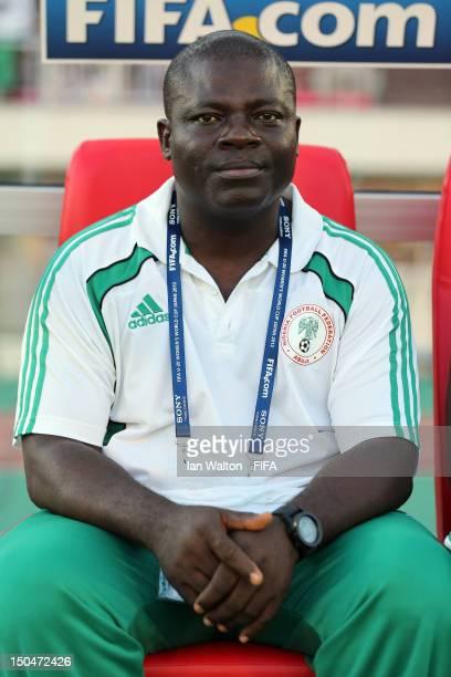 Nigeria coach Okon Edwin looks on during the FIFA U-20 Women's World Cup Japan 2012, Group B match between Nigeria v Korean Republic at Komaba...