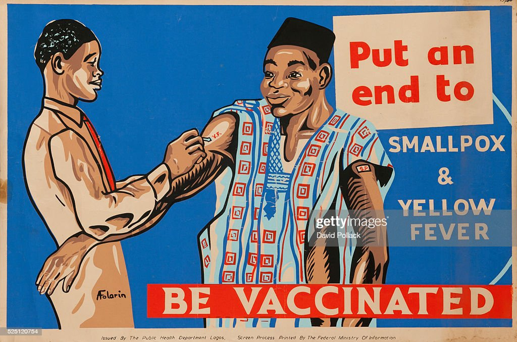 Put an end to Smallpox and Yellow Fever, Be Vaccinated : News Photo