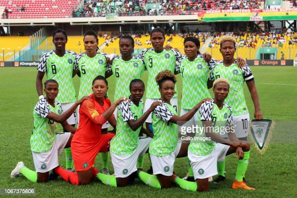 Nigeria during the 2018 TOTAL African Womens Cup of Nations between Nigeria and South Africa at Accra Sports Stadium on December 01 2018 in Accra...
