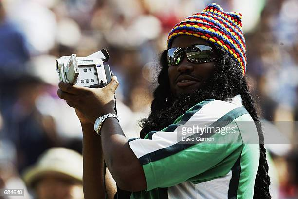 Nigeria fan during the FIFA World Cup Finals 2002 Group F match between Sweden and Nigeria played at the Kobe Wing Stadium, in Kobe, Japan on June 7,...