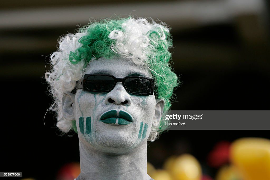 Nigeria fan with painted face during the 2008 African Cup of Nations....  News Photo - Getty Images
