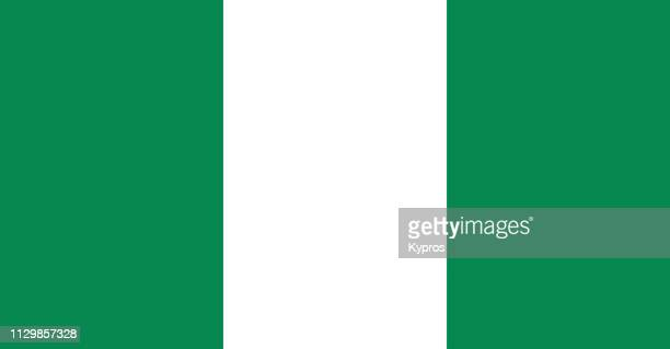 nigeria - nigerian flag stock photos and pictures