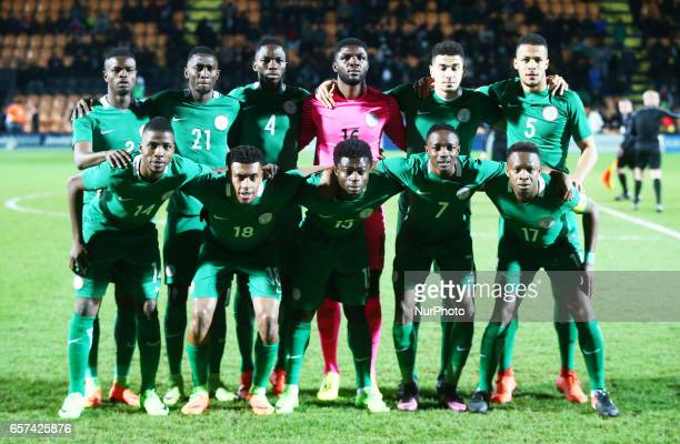 Nigeria Team during International Friendly match between Nigeria against Senegal at The Hive Barnet FC on 23rd March 2017