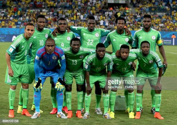 Nigeria team group Peter Odemwingie John Mikel Obi Emmanuel Emenike Kenneth Omeruo Efe Ambrose Joseph Yobo Vincent Enyeama Juwon Oshaniwa Michael...