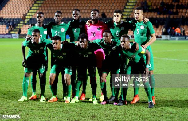 Nigeria team group photo during the International Friendly match between Nigeria and Senegal at The Hive on March 23 2017 in Barnet England