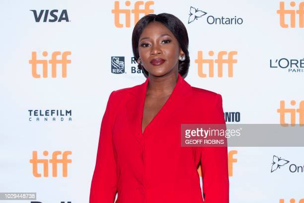 Nigerian actress Genevieve Nnaji attends the premiere of 'Farming' at the Toronto International Film Festival in Toronto Ontario September 8 2018