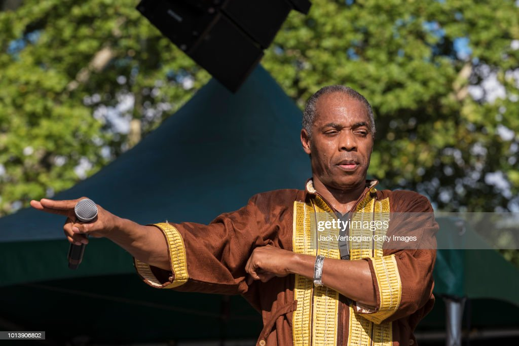 Nigerian Afrobeat Musician Femi Kuti Performs at Central Park SummerStage : News Photo