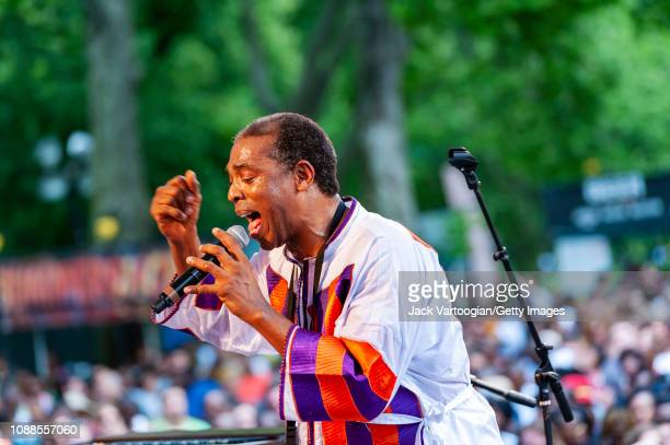 Nigerian Afrobeat musician Femi Kuti performs with his band Positive Force at Central Park SummerStage New York New York June 23 2013