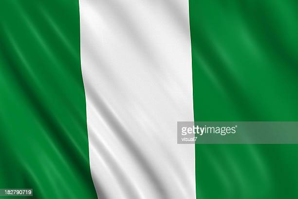 nigerian flag - nigerian flag stock photos and pictures