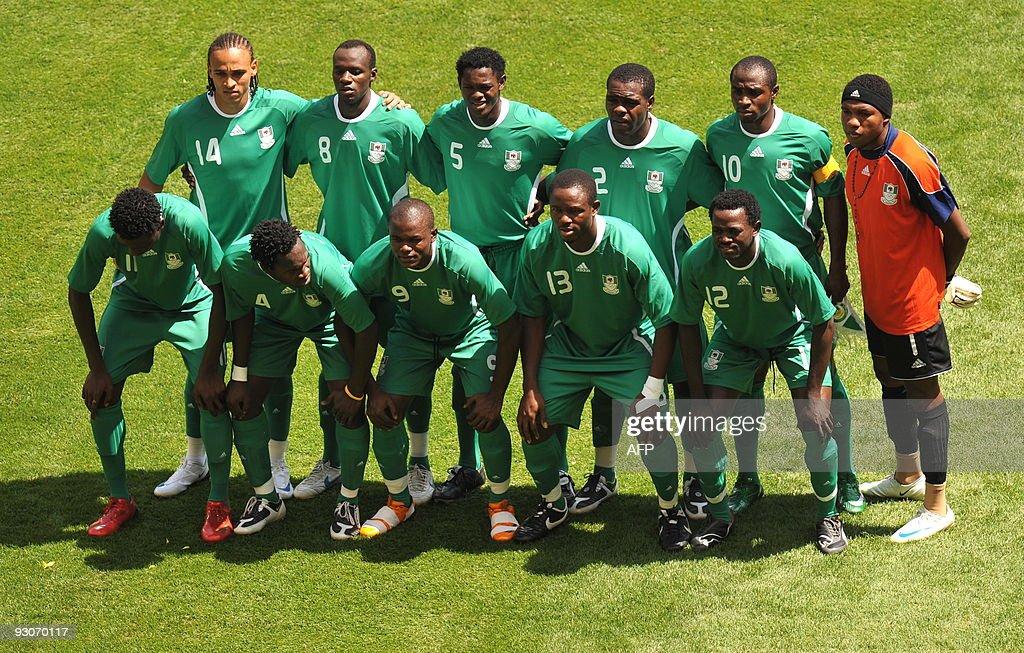(From top L) Nigerian forward Peter Odem : News Photo