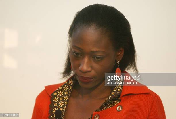 Nigerian human rights activist Hafsat Abiola Ito takes part in a discussion of the 'German Dream' at the Frankfurt Book Fair 10 October 2007 AFP...