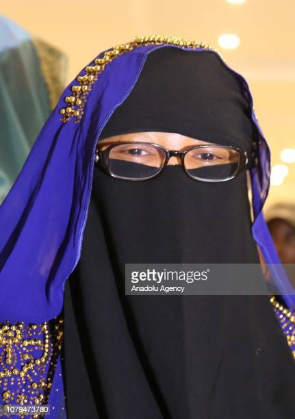 Nigerian lawyer Aisha Wakil speaks during an exclusive interview in Abuja Nigeria on December 12 2018 Aisha Wakil is known as Mama Boko Haram since...