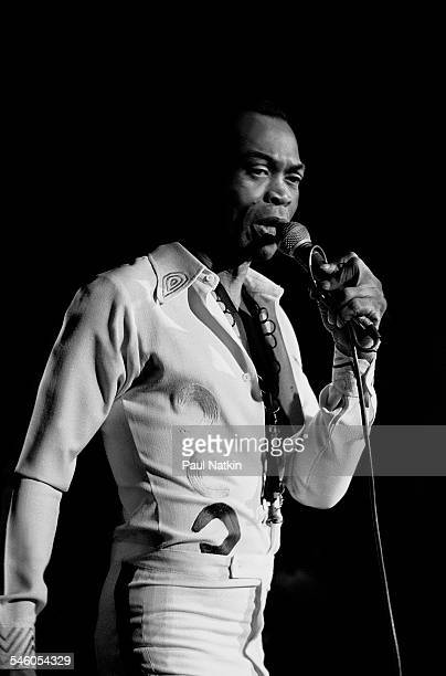 Nigerian musician Fela Kuti performs onstage at the Riviera Theater Chicago Illinois November 13 1986