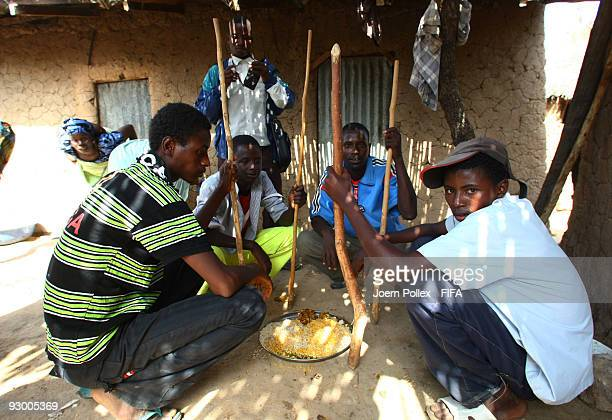 Nigerian poeple having lunch on November 07 2009 in Bauchi Nigeria